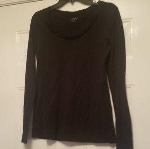 Ann Taylor Loft Small Black long sleeve tshirt